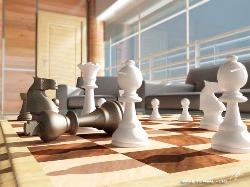 schaken tegen computer 3d